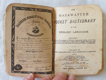 Load image into Gallery viewer, The Mazawattee Pocket Dictionary of the English Language