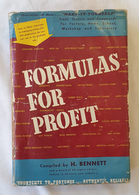 Formulas For Profit Compiled by H. Bennett