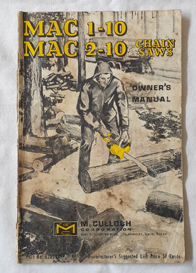 MAC 1-10  MAC 2-10 Chainsaws Owner's Manual