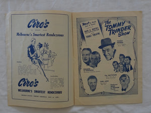 Tivoli Circuit - The Tommy Trinder Show Programme