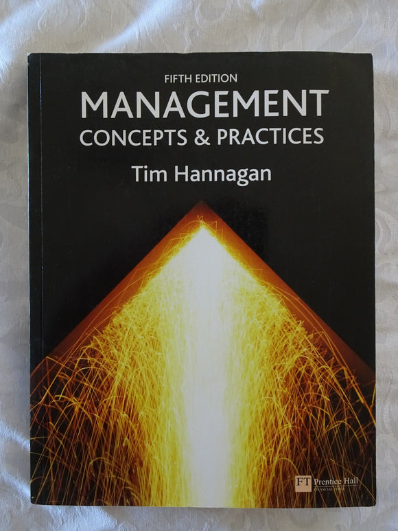 Management Concepts & Practices by Tim Hannagan