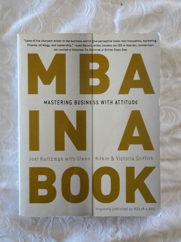 MBA In A Book by Joel Kurtzman et al.