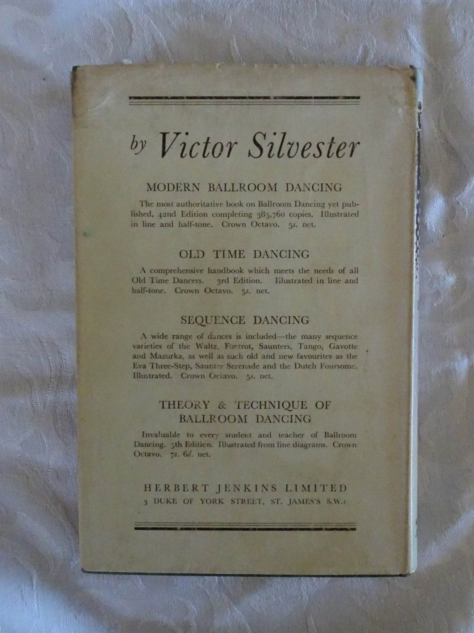 More Old Time Dances By Victor Silvester Morgans Rare Books Foxtrot Steps Diagram Waltz Dance