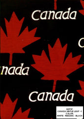 Canada Maple Leaf Black Red & White