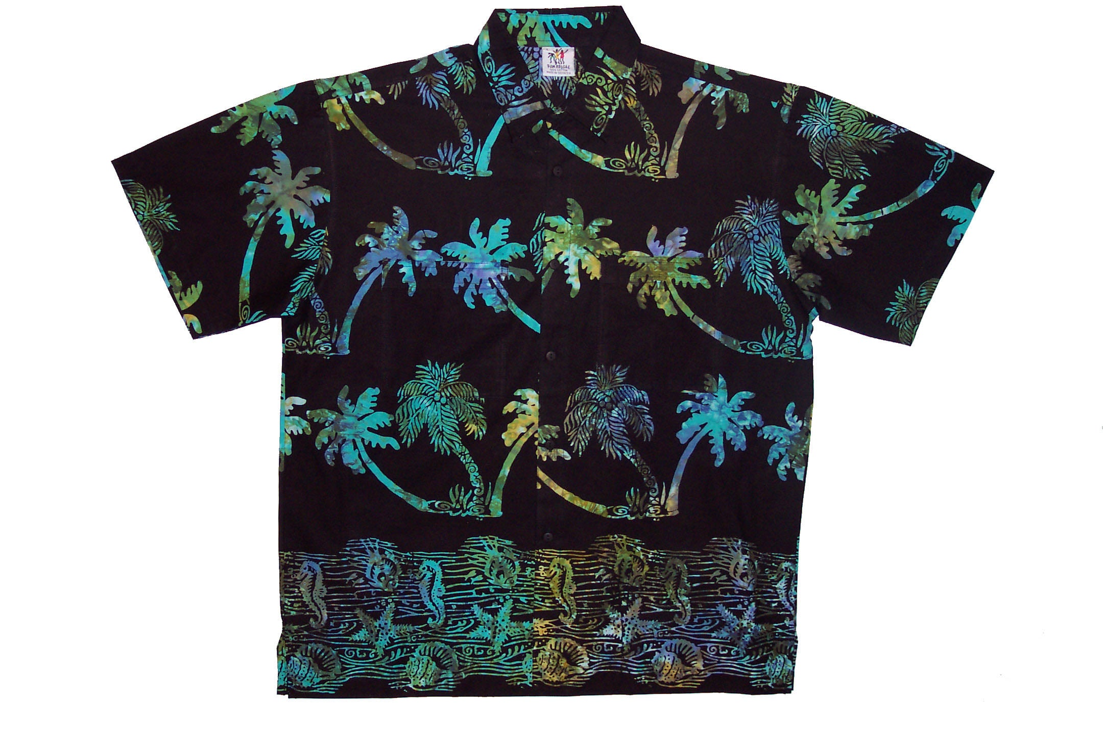 Coco_Tree_Islander_Batik_Rum_Reggae_Clothing_Handmade_Cabana_Shirt_Flower_Hibiscus_Fruit_Living_Garden_Rainforest_Maori_Polynesian_Vacation_Holiday_Island_Indonesia_Bali_Java_Hawaii_Caribbean_Equator_California_Tahiti_Fishes_Shell_Shells_Style_Lagoon