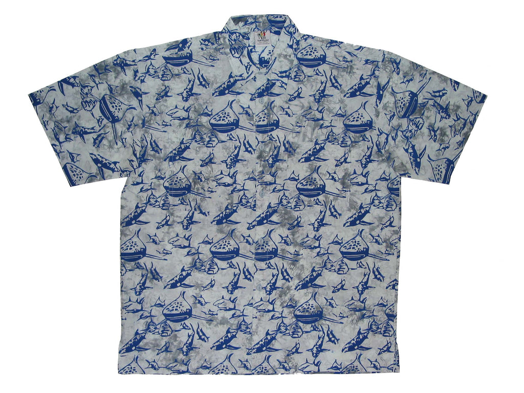Cabana Shirt - Gray Reefers