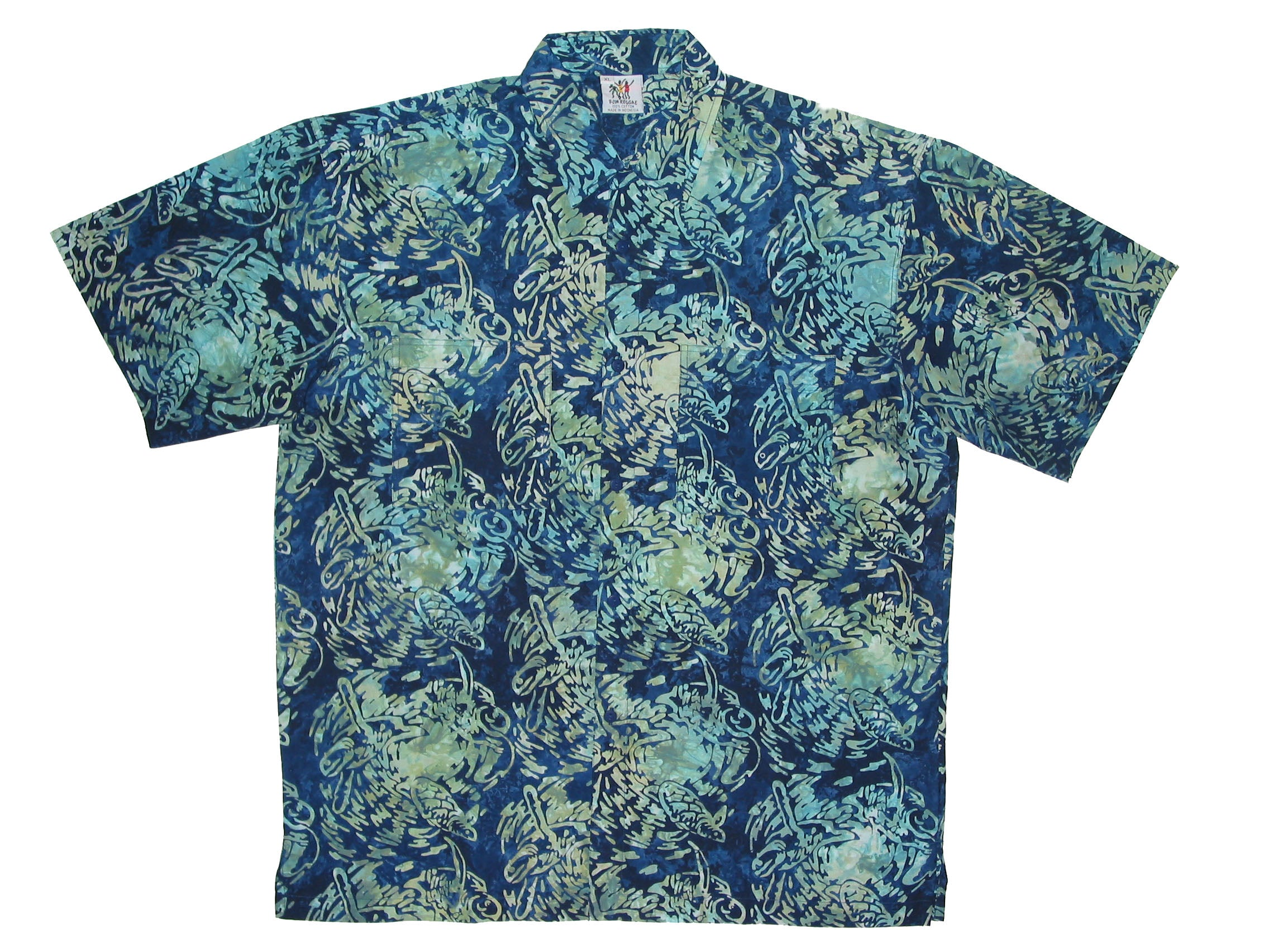 Cabana Shirt - Swirling Turtle