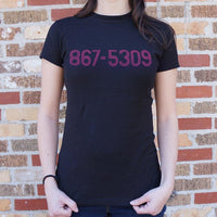 867-5309 T-Shirt (Ladies) Ladies T-Shirt