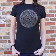 Aztec Calendar T-Shirt (Ladies) Ladies T-Shirt