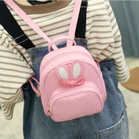 Girl Backpack Bunny Pu Leather Polka Dot Bow 4 Colors Girl Backpack