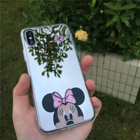 Iphone Case Cartoon Minnie/mickey Mouse Silicone Case For Iphone Series Cell Phone Cases