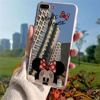 Iphone Case Cartoon Minnie/mickey Mouse Silicone Case For Iphone Series Minnie / For Iphone 5 5S Se Cell Phone Cases