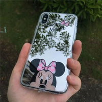 Iphone Case Cartoon Minnie/mickey Mouse Silicone Case For Iphone Series Pink Minnie / For Iphone 5 5S Se Cell Phone Cases