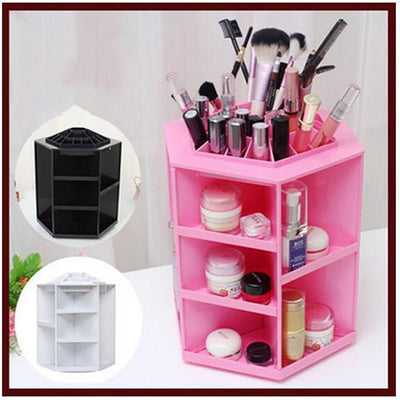 Makeup Storage Box 360 Degree Rotating Plastic Case Organizer In 3 Colors Makeup Storage