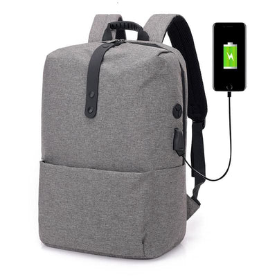 Men Backpack Canvas Unisex School Usb Laptop Travel Backpack 4 Colors Men Backpack
