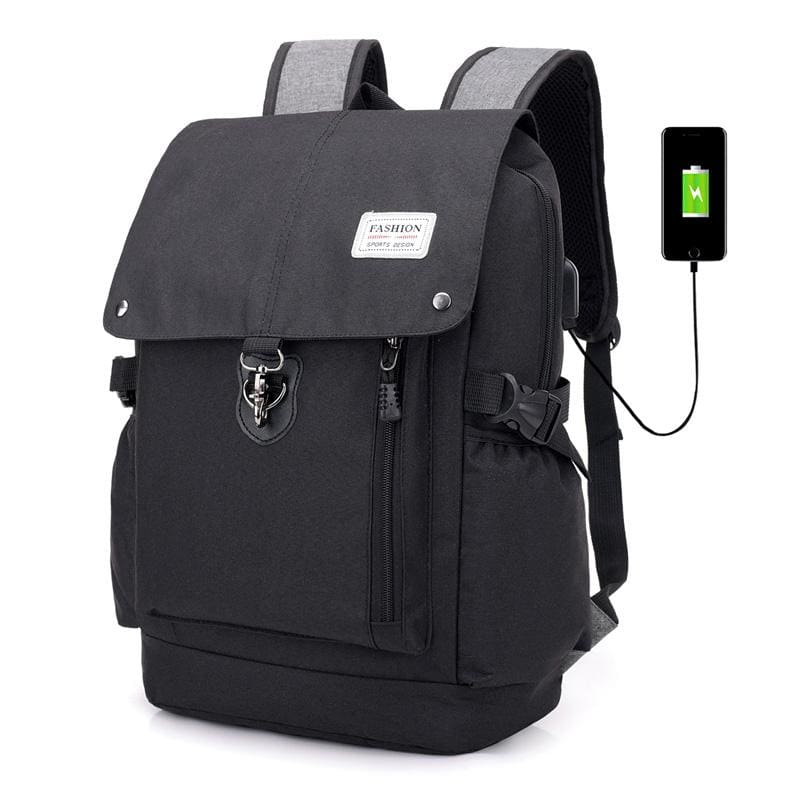 Men Backpack Casual Usb Charge Anti Theft 15 Inch Laptop Unisex Or Teenage School Travel Backpack In 3 Colors Black Men Backpack