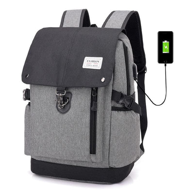 Men Backpack Casual Usb Charge Anti Theft 15 Inch Laptop Unisex Or Teenage School Travel Backpack In 3 Colors Gray Black Men Backpack