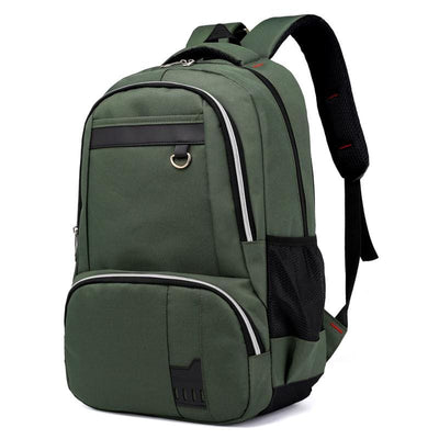 Men Backpack Nylon Unisex School Shoulder Backpack 5 Colors Army Green Men Backpack