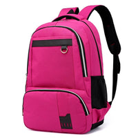 Men Backpack Nylon Unisex School Shoulder Backpack 5 Colors Pink Red Men Backpack