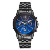 Men Watch Casual Stainless Steel Black Dial Analog Quartz Wrist Watch 5 Colors D Men Watch