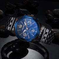 Men Watch Casual Stainless Steel Black Dial Analog Quartz Wrist Watch 5 Colors Men Watch