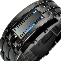 Men Watch Digital Led Display Waterproof Unique Wristwatch Blacklarge Men Watch