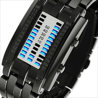 Men Watch Digital Led Display Waterproof Unique Wristwatch Blacksmall Men Watch
