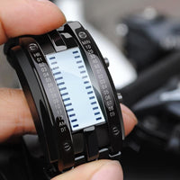 Men Watch Digital Led Display Waterproof Unique Wristwatch Men Watch