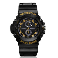 Men Watch Silicone Band Analog Full Steel Calendar Army Watch 4 Colors Men Watch