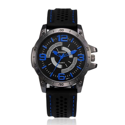 Men Watch Silicone Sport Quartz Stainless Steel Casual Wrist Watch 4 Colors A Men Watch