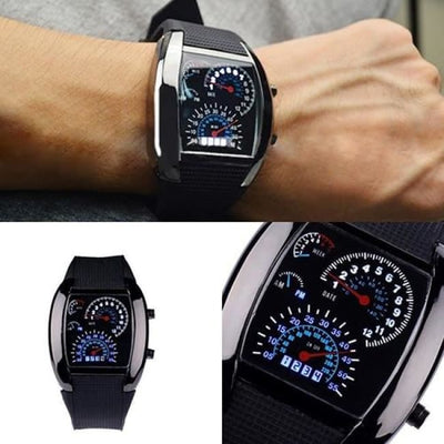 Men Watch Stainless Steel Sport Analog Quartz Led Wrist Watch Men Watch