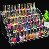 Nail Polish Rack Organizer Clear 5 Layers Display Nail Polish Rack