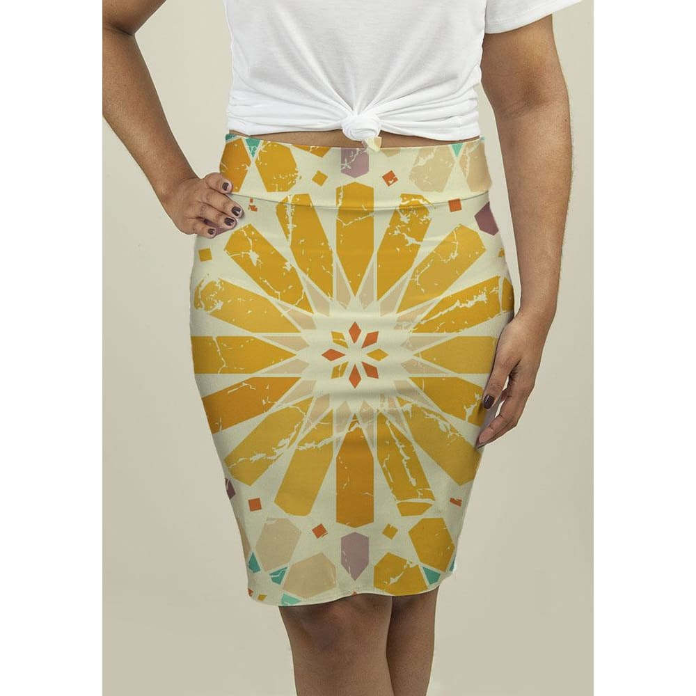 Pencil Skirt with Arabic Pattern Skirts