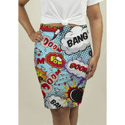Pencil Skirt with Comic Speech Bubbles Skirts