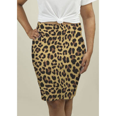 Pencil Skirt with Leopard Print Skirts