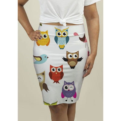 Pencil Skirt with Owls Skirts