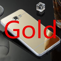 Samsung Galaxy Case Slim Mirror Silicone Case Suitable For S A J Models Gold / S9 Plus Cell Phone Cases