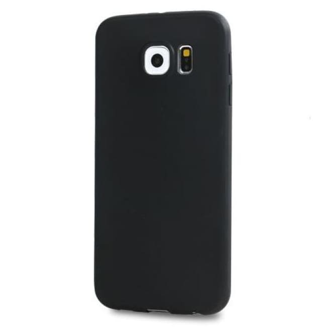 Samsung Galaxy Case Ultra-Thin Silicon Candy Color Case For S Series Black / S6 Cell Phone Cases