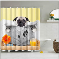 Shower Curtain 1Pc Colorful Printed Waterproof In 6 Modern And Unique Designs 170944 / 150*180Cm Shower Curtain