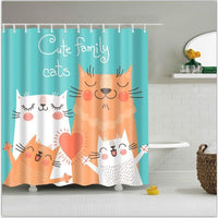 Shower Curtain 1Pc Colorful Printed Waterproof In 6 Modern And Unique Designs 170949 / 150*180Cm Shower Curtain
