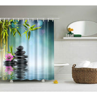 Shower Curtain High Quality Spa Waterproof Digital Landscape Printing 6 Designs 0318 / 150*180Cm Shower Curtain