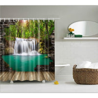 Shower Curtain High Quality Spa Waterproof Digital Landscape Printing 6 Designs 0319 / 150*180Cm Shower Curtain