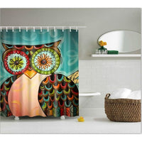Shower Curtain High Quality Spa Waterproof Digital Landscape Printing 6 Designs 0322 / 150*180Cm Shower Curtain