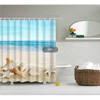 Shower Curtain High Quality Spa Waterproof Digital Landscape Printing 6 Designs 0336 / 150*180Cm Shower Curtain