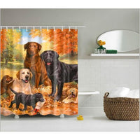 Shower Curtain High Quality Spa Waterproof Digital Landscape Printing 6 Designs 0347 / 150*180Cm Shower Curtain