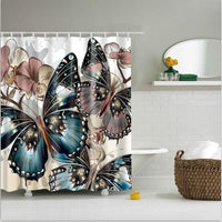 Shower Curtain High Quality Spa Waterproof Digital Landscape Printing 6 Designs 0410 / 150*180Cm Shower Curtain