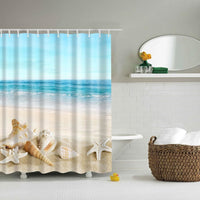 Shower Curtain High Quality Spa Waterproof Digital Landscape Printing 6 Designs Shower Curtain