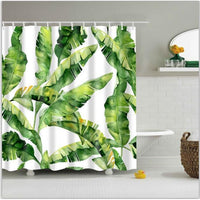 Shower Curtain Polyester Washable Decor Colorful Curtains 6 Designs 0735 / 150*180Cm Shower Curtain