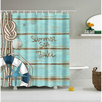 Shower Curtain Polyester Washable Decor Colorful Curtains 6 Designs 0737 / 150*180Cm Shower Curtain