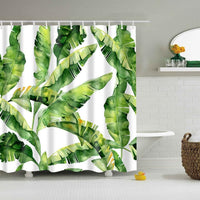 Shower Curtain Polyester Washable Decor Colorful Curtains 6 Designs Shower Curtain